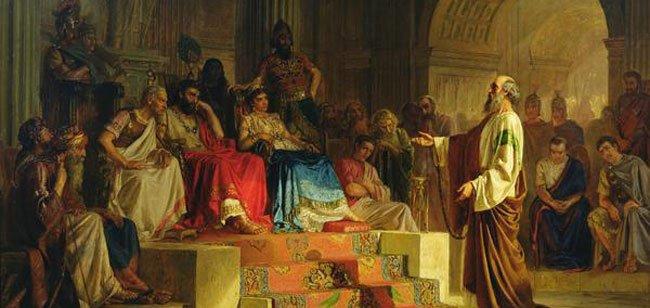 Apostle Paul On Trial by Nikolai Bodarevsky, 1875.